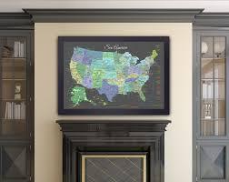 map usa framed usa map national parks slate edition framed pin map ready