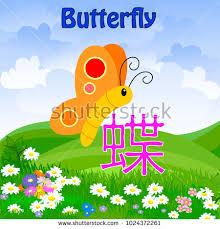 cho japanese kanji name language stock vector 1024372261