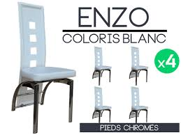 lot 4 chaises blanches lot 4 chaises simple lot chaises erika blanc taupe with lot 4