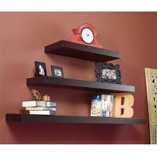 Thick Floating Shelves by Furniture Asymmetric White Laminate Rectangle Floating Wall