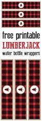 lumberjack water bottle wrappers free printable paper trail design