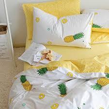 amazon com vclife cotton bedding sets pineapple print duvet cover