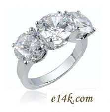 zirconia stone rings images Sterling silver 3 1ct round brilliant 3cttw cz cubic zirconia 3 jpg