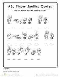 12 best sign language worksheets images on pinterest american