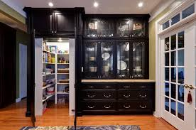 convert wood cabinet doors to glass pantrys kitchen traditional with dark wood cabinets ceiling lighting
