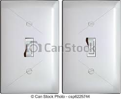 eps vector of electric light switch in on and off positions