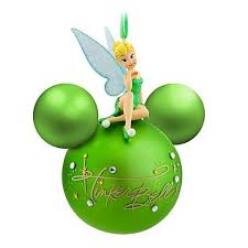 disney parks tinker bell signature ornament new with ta