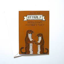 woodland otter s day card by