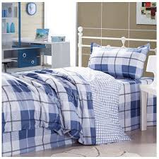 Plaid Bed Sets Blue Plaid Country Simple Bedding Sets Ogobet071416