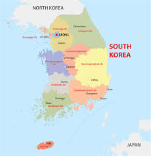 Korea On Map South Korea Physical Map South Korea Political Map With Cities