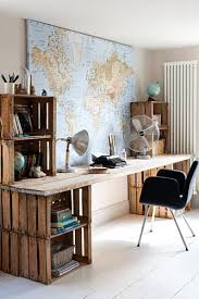 Crates For Bookshelves - desks made from wooden crates google search desks chairs for
