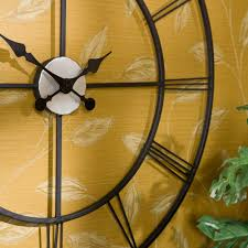 Decorative Metal Wall Clocks Amazon Com Centurian Decorative Wall Clock Home U0026 Kitchen