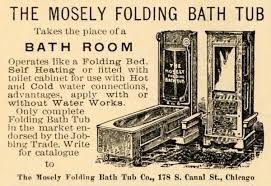 the history of the bathtub old house restoration products mosely folding bath tub