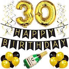 30th birthday decorations 30th birthday party pack black gold happy birthday