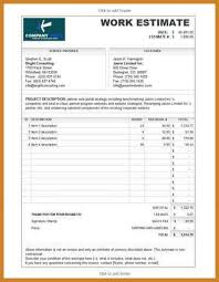 bid estimate template construction bid template notary letter