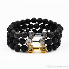 black bead bracelet with charm images Online cheap lava black onyx tiger eye beads bracelets metal jpg