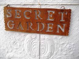 Garden Metal Decor Tin Secret Garden Metal Rustic Sign
