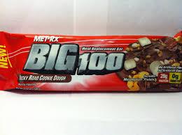 crazy food dude review met rx big 100 rocky road cookie dough bar