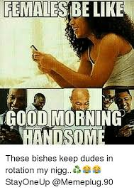 Dudes Be Like Meme - females be like dod morni these bishes keep dudes in rotation my