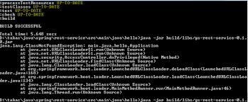 app building class java gradle building rest app can t find class