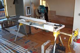 Table Saw Stand With Wheels Miter Saw Bench Shop Projects Table Saw Stand And Miter Saw
