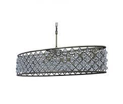 Chandelier Antique Brass Cassiel 30 Inch Oval Crystal Chandelier Antique Brass U2013 Light Up