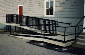 Wheelchair Ramp Handrails Pre Cast Concrete Handicapped Accessibility Ramps For Homes And