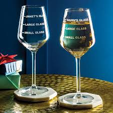 Wine Glass Personalised Drinks Measure Wine Glass By Becky Broome