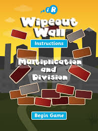 wipeout wall for ipad multiplication u0026 division on the app store