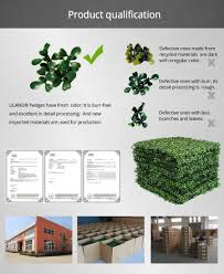 plastic plants fence artificial hedges ivy vines for privacy panel