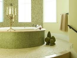 green mosaic bathroom tiles ideas for interior