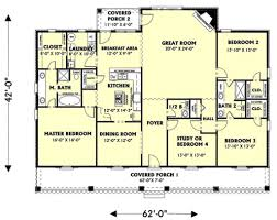 covered porch house plans country style house plan 4 beds 2 50 baths 2354 sq ft plan 44 125