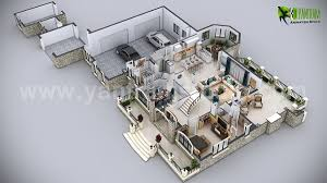 3d floor plan commercial designs yantram architectural design