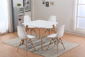 Replica Eames Dining Table Replica Mario Cellini Square Dining Table And 4 Eames Chairs