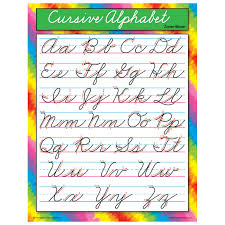 5 best images of printable cursive alphabet chart free printable