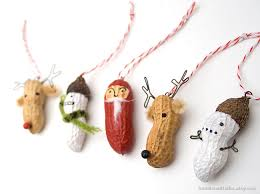 awesome etsy find peanut ornaments by bone studio