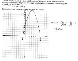 Graphing Functions Worksheet Model Rocket Students Are Asked To Graph A Function In Two