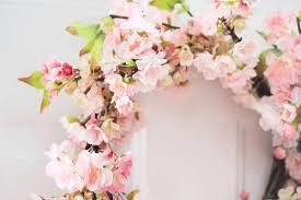 nearly natural cherry blossom wreath u0026 reviews wayfair