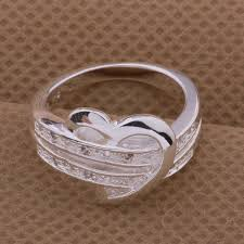 ebay rings silver images Luxury ebay top shining stainless steel heart ring gift buycoolprice jpg
