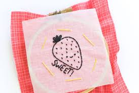 using the tracing paper embroidery transfer method