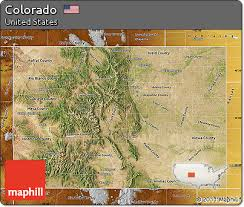 colorado physical map free satellite map of colorado physical outside