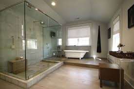 modern master bathroom designs pictures walnut finish vanity