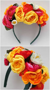 headband flowers how to frida kahlo inspired floral headband my poppet makes