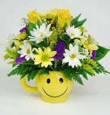 Smiley Face Vase Get Well Flowers From Lebanon Garden Of Eden Floral Shop Local