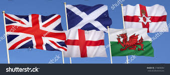 Scotland Flags Flags United Kingdom Great Britain England Stock Photo 219600049