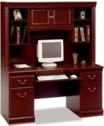 Bush Office Desks Bush Ex26603 04 Credenza Office Desk With Hutch