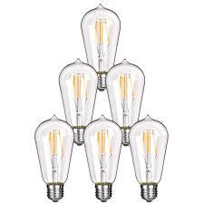 homestia led st58 4w 110v e26 warm lighting filament high
