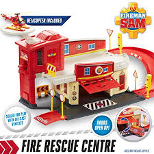 fireman sam fire station die cast playset character options