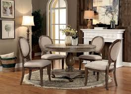 Dark Oak Furniture Siobhan Cm3872rt Dining Set Of Round Table U0026 4chairs In Dark Oak