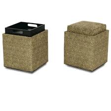 Fabric Storage Ottoman With Tray Ottomans Ottoman With Tray Round Storage Ottoman Large Round